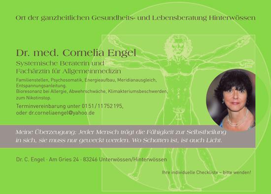 Dr. med Cornelia Engel, systemische Beraterin und Fachärtzin für Allgemeinmedizin